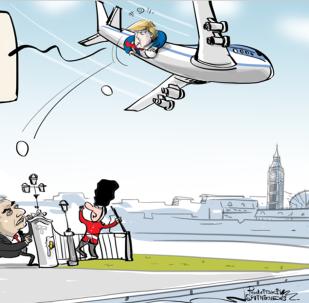 Trump v Británii