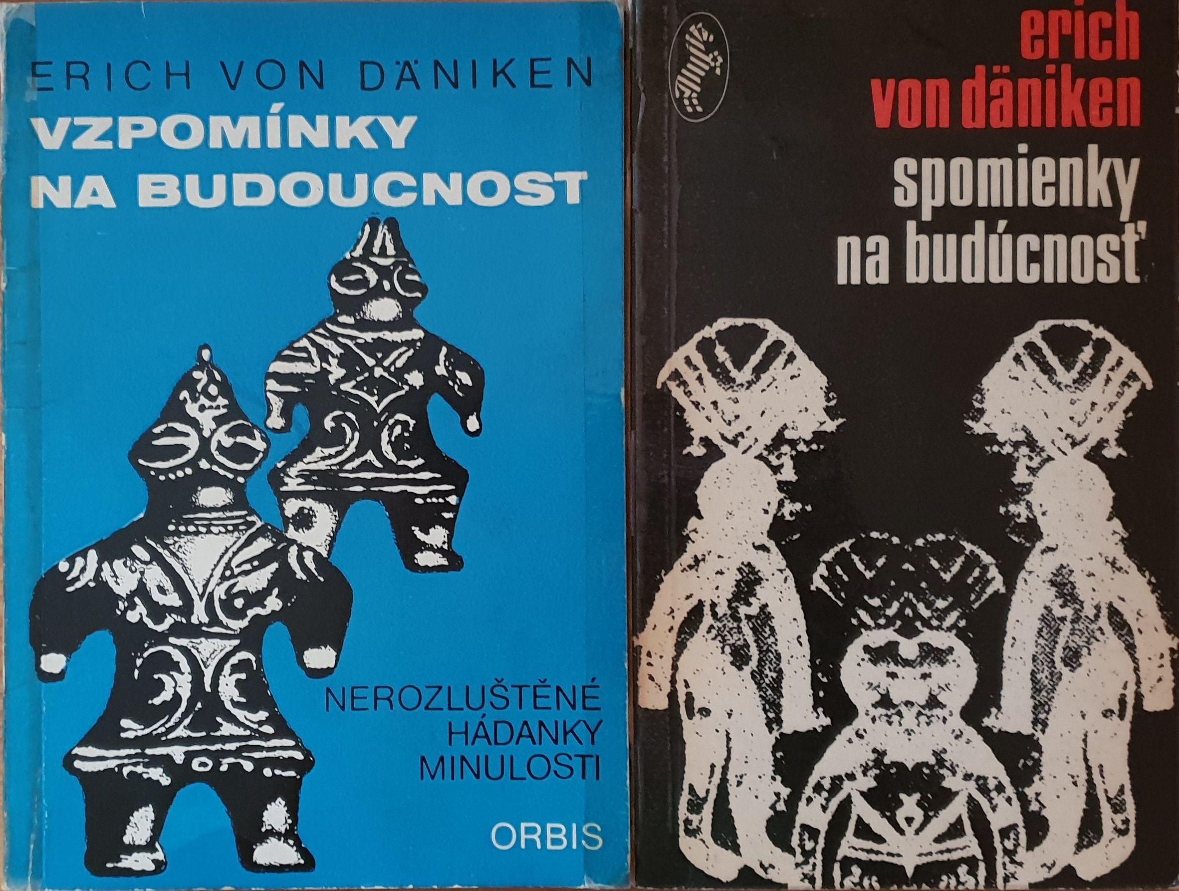 Knihy předního světového záhadologa vyšly česky (např. Orbis 1971, vlevo) i slovensky (např. Slovenský spisovateľ 1971, vpravo)