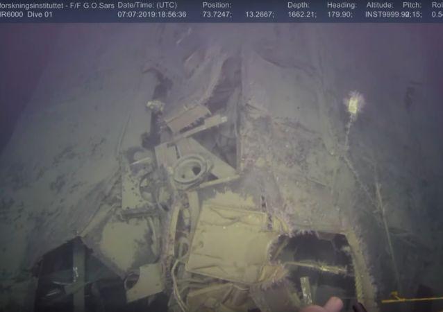 Neuvěřitelný nález. Objevilo se video ponorky Komsomolec potopené v roce 1989