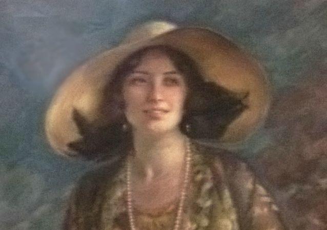 Na obrázku je suchým pastelem vyvedena Wilhelmine von Fürstenberková. Fotografie obrazu vznikla před mnoha lety během prohlídky hradu Křivoklát. Je to jeden z nejhezčích portrétů na našich hradech a zámcích vůbec.