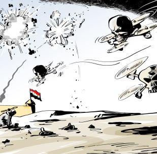 PVO letecké základny v Sýrii sestřelila šest bezpilotních bojových letadel