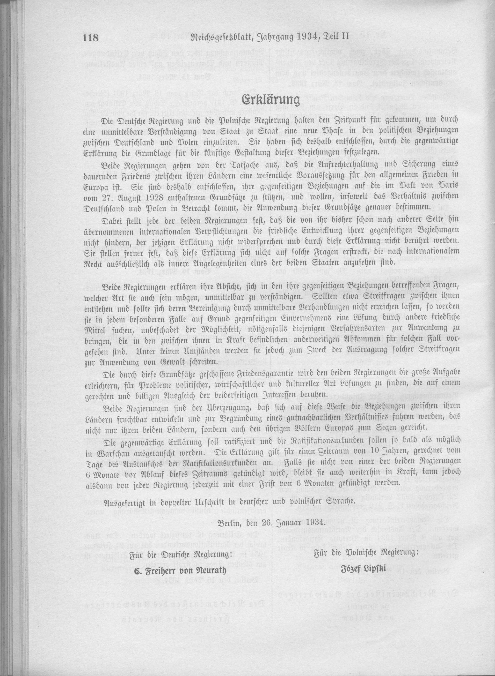 Německo-polský pakt o neútočení