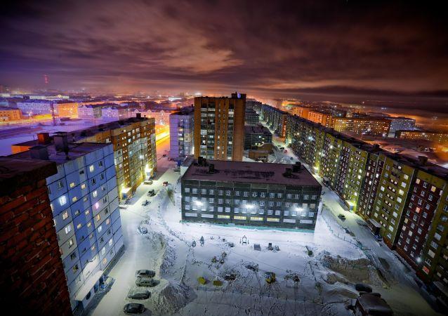 Zima v Norilsku