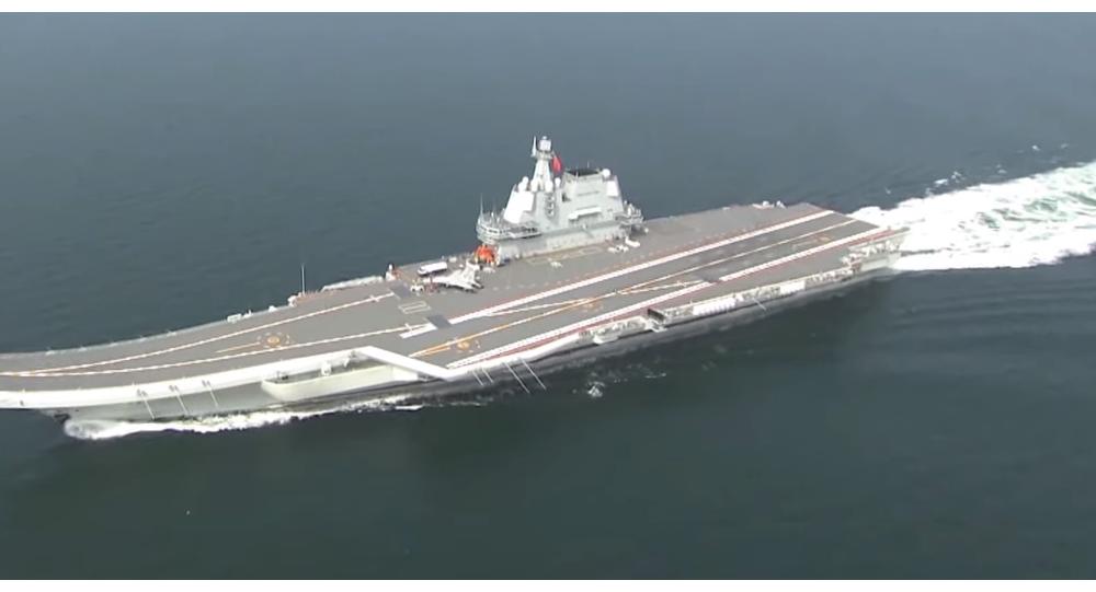 Video: První v Číně vyrobená letadlová loď proplula Tchajwanským průlivem