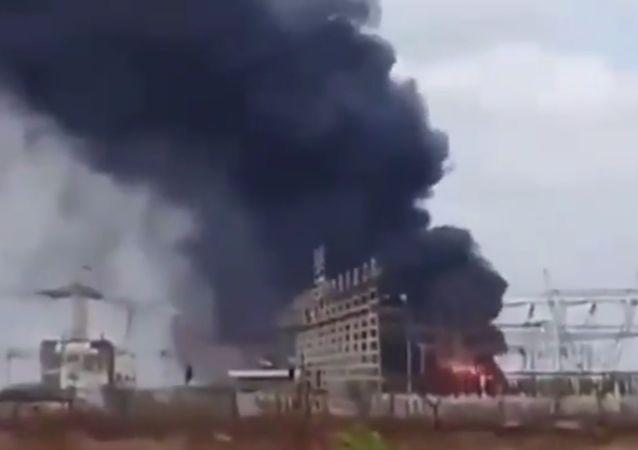Požár ve Venezuele 9 března 2019
