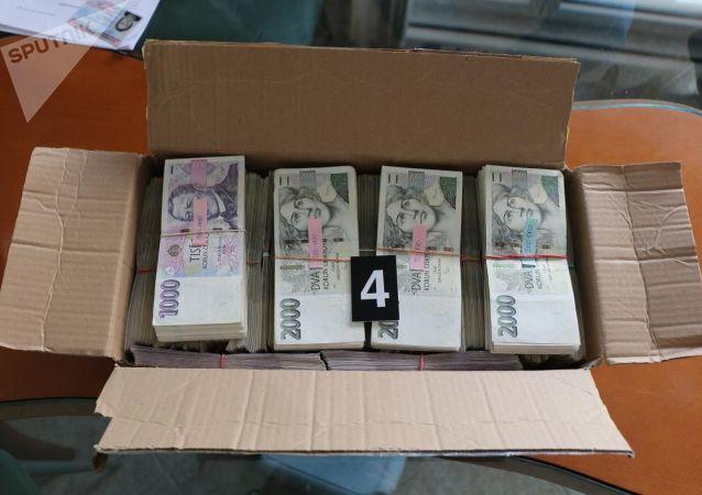 Peníze zajištěné při operaci AURELIUS