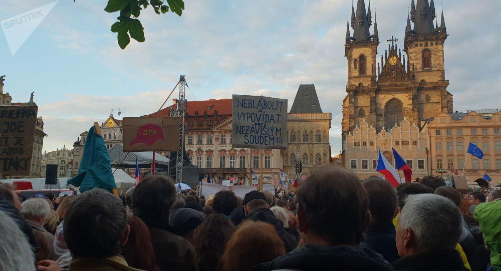 Milion chvilek pro demokracii protestuje