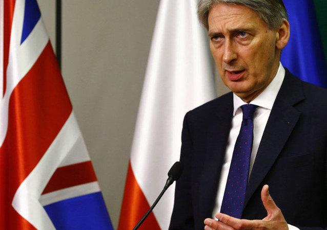 Ministr zahraničních věcí Velké Británie Philip Hammond