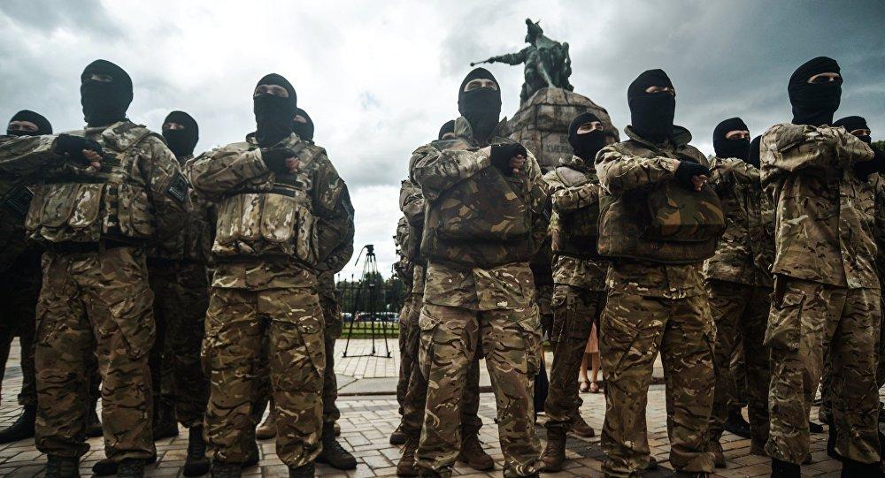 Bojovníci z pluku Azov