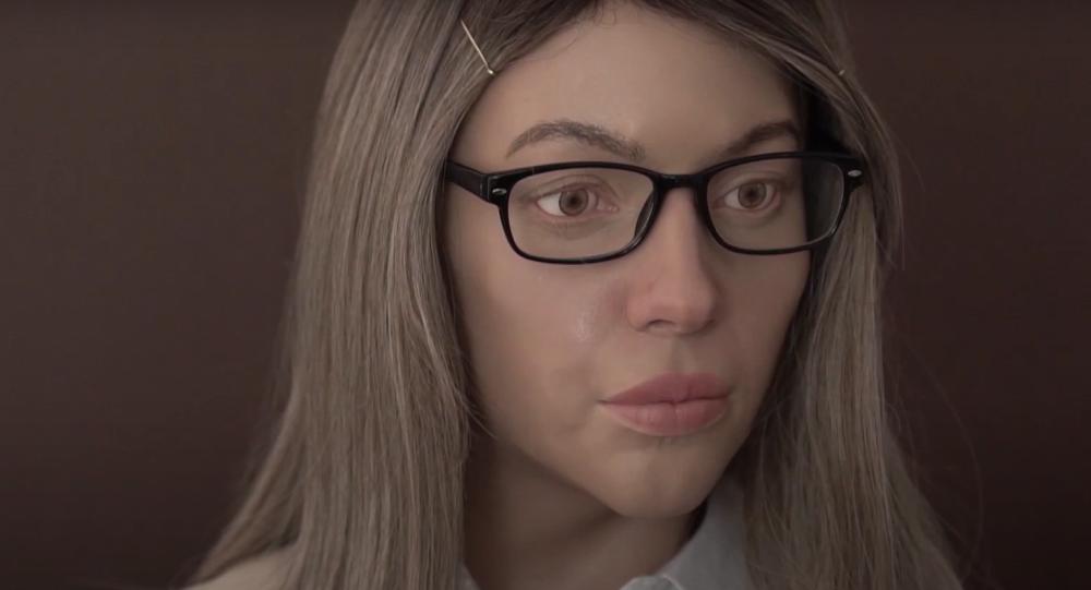 """""""Nebylo mi dobře."""" Robot vypadající jako blonďatá dívka vydává potvrzení v centru státních služeb. Video"""