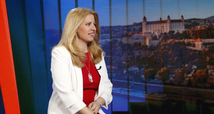 Nově zvolená prezidentka Slovenské republiky Zuzana Čaputová