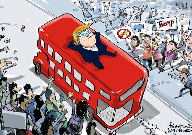 Trump a protesty