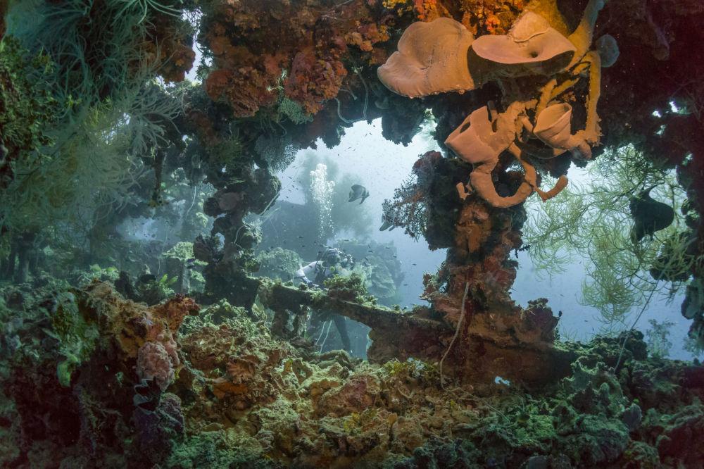 Potopený japonský tanker Shinkoku Maru