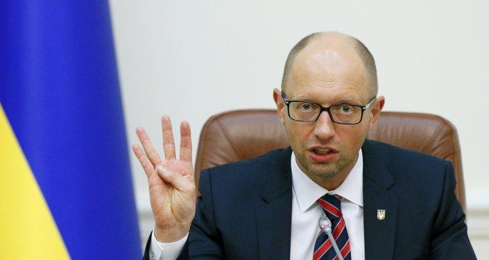 Premiér Ukrajiny Arsenij Jaceňuk