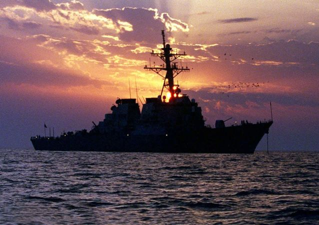 Americký torpédoborec v Perském zálivu