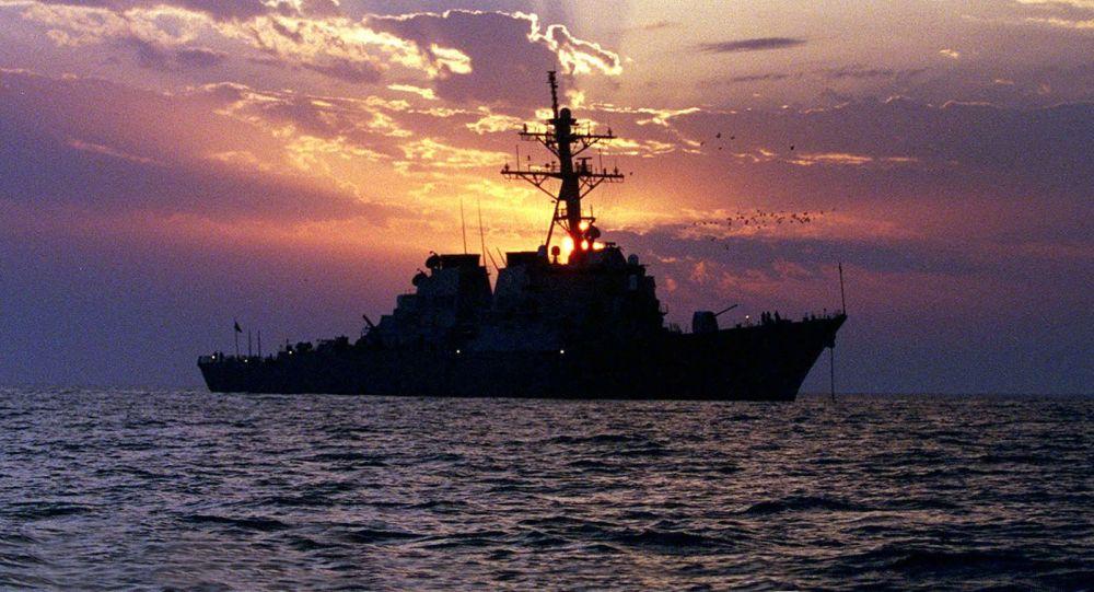 Americký torpédoborec v Perském zálivu. Ilustrační foto