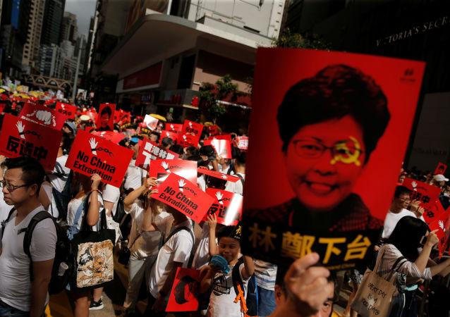Demonstrace v Hongkongu proti návrhu extradičního zákona (dne 9. června 2019)