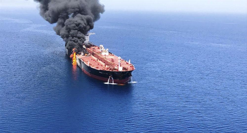 Tanker v Ománském zálivu
