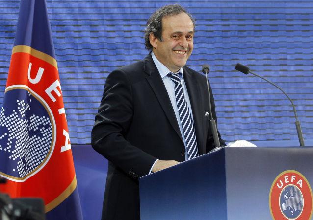 Bývalý prezident UEFA Michel Platini v Paříži. 2011