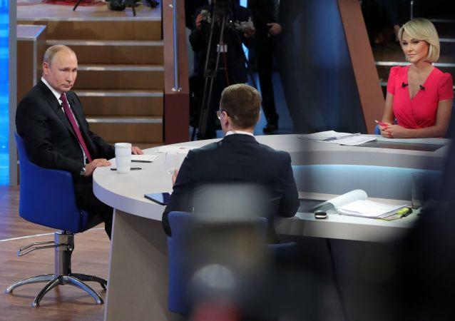 Putin na Přímé lince (dne 20. června 2019)