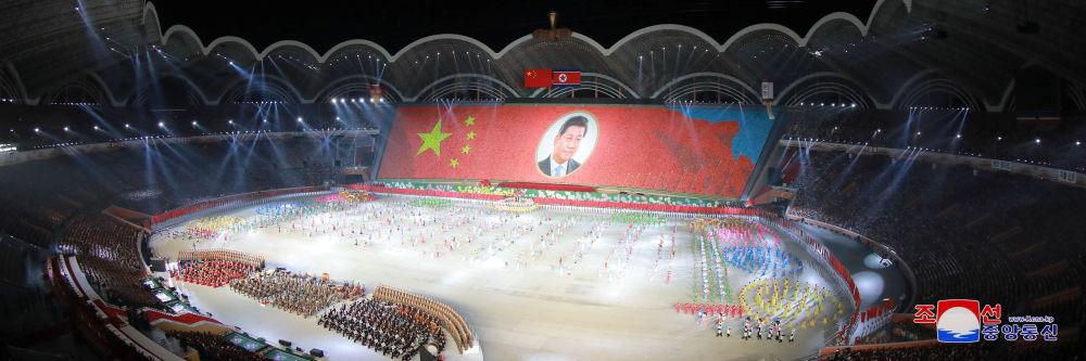 Portrét čínského vůdce Si Ťin-pchinga.