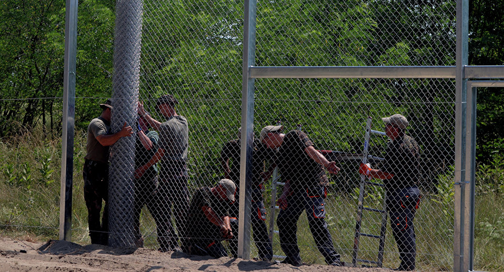 Plot na hranici Maďarska a Srbska