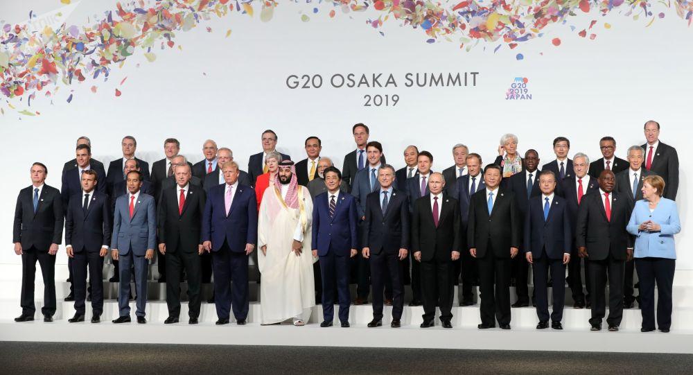 Účastníci summitu G20 v Ósace