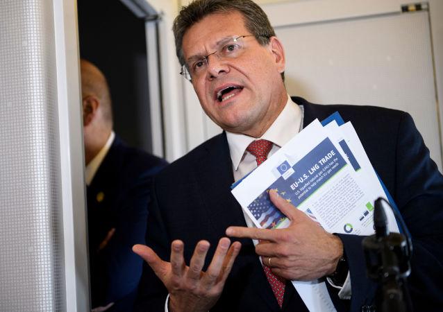 Slovenský diplomat a evropský komisař Maroš Šefčovič. Šefčovič se zastal svého homosexuálního asistenta. Nyní mu hrozí ztráta podpory SNS