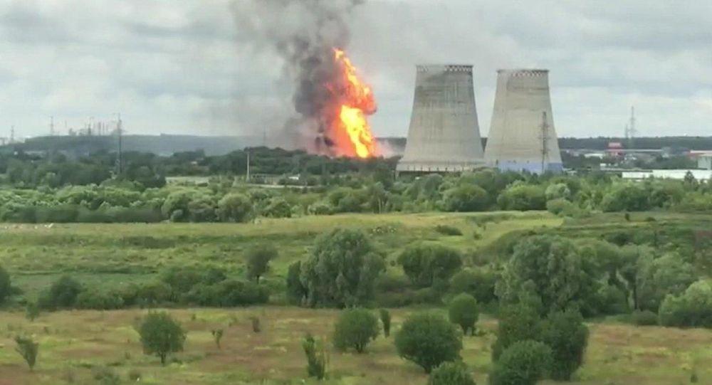 Požár na Severní tepelné elektrárně v Mytišči