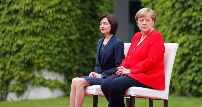Angela Merkelová a Maia Sanduová