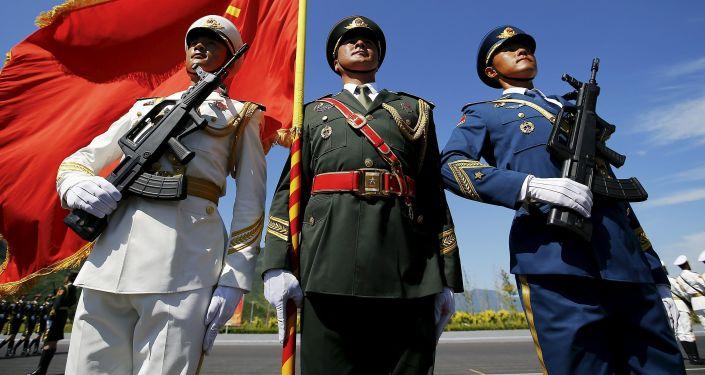 Zkouška přehlídky vitězství v Pekingu
