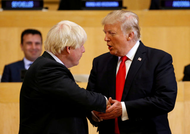 Boris Johnson a Donald Trump v OSN v New Yorku
