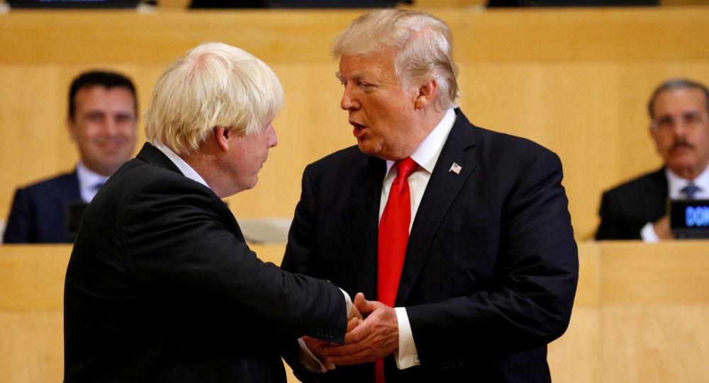 Boris Johnson a Donald Trump v OSN v New Yorku