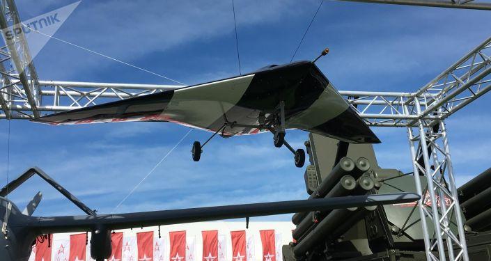 Maketa bezpilotního letadla Lovec
