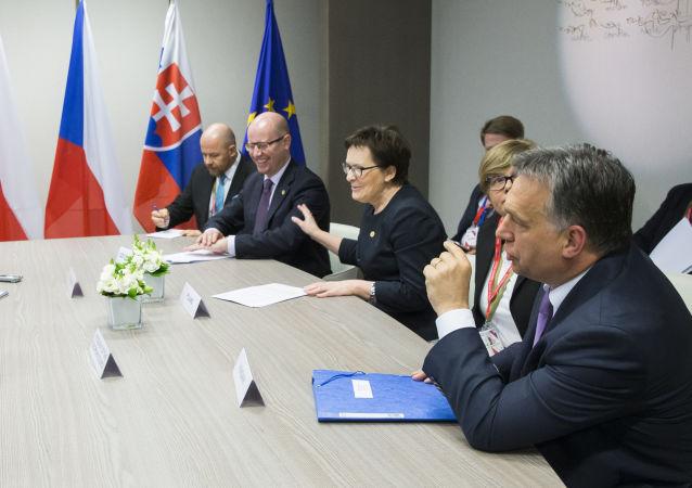 Schůzka Visegrádské čtyřky archivní foto