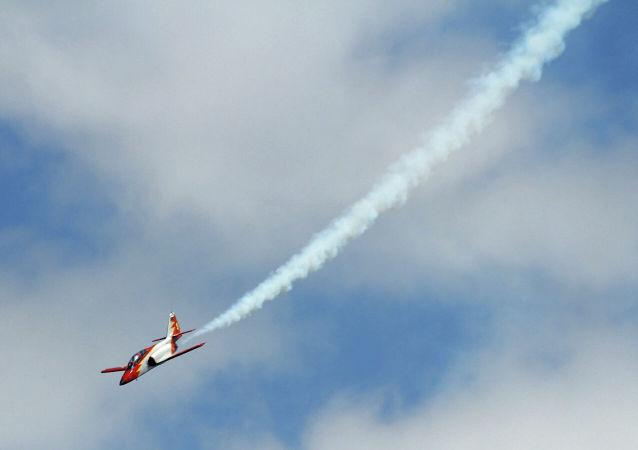 Pád  španělského letadla do Středozemního moře byl zachycen na videu