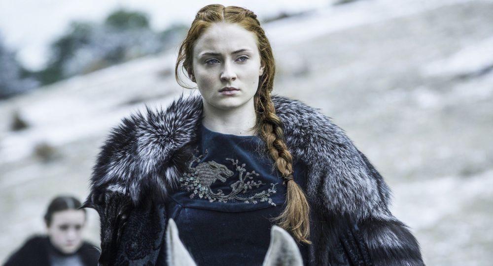 Herečka Sophie Turner jako Sansa Starková v seriálu Hra o trůny