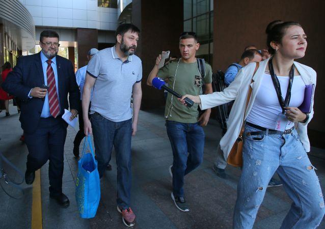 Kirill Vyšinský opouští soud v Kyjevě