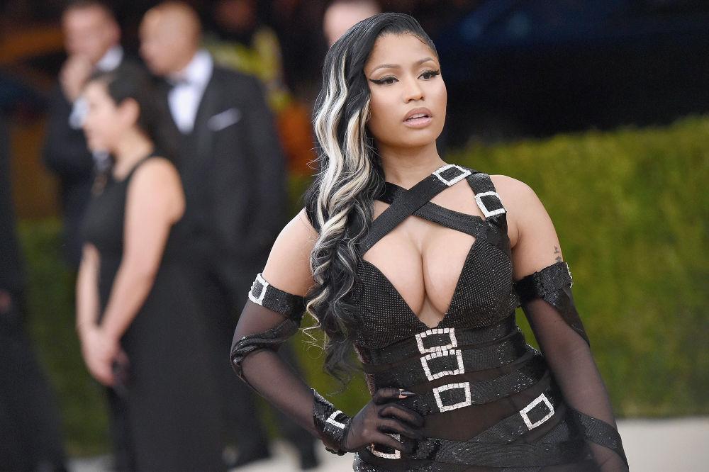 Zpěvačka Nicki Minaj na akci s názvem Manus X Machina: Fashion in an Age of Technology v Metropolitní muzeu umění v New Yorku.