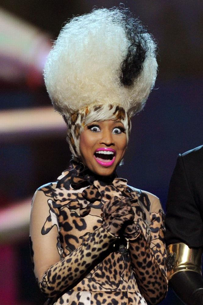 Zpěvačka Nicki Minaj na předávání hudebních cen Grammy Awards 2019 v Los Angeles.