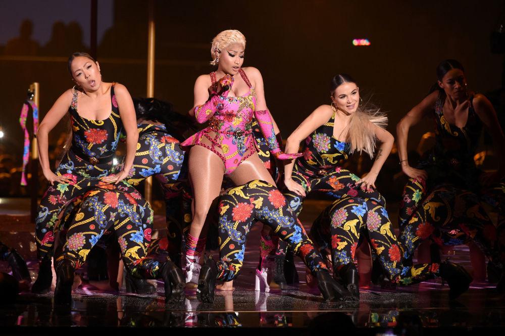 Vystoupení Nicki Minaj na akci s názvem MTV Europe Music Awards, 2018.