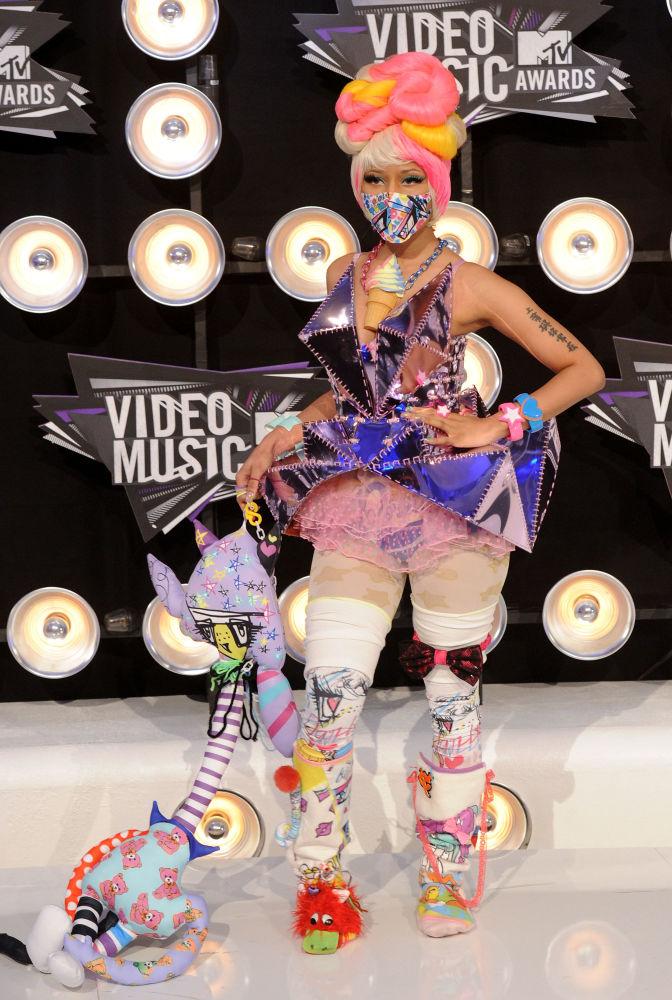 Zpěvačka Nicki Minaj na akci MTV Video Music Awards.