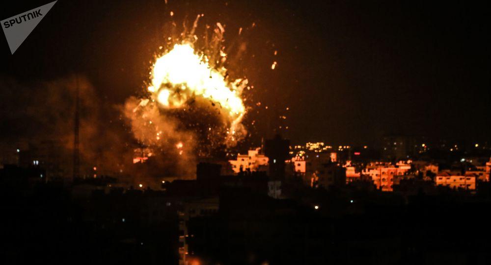 Raketový útok Izraele na Pásmo Gazy. Ilustrační foto