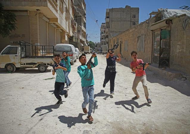 Syrské děti v Idlibu