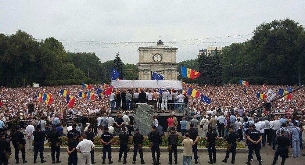 Demonstrace v Moldávii