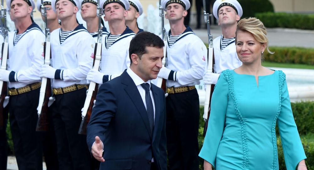 Zuzana Čaputová s Volodymyrem Zelenským
