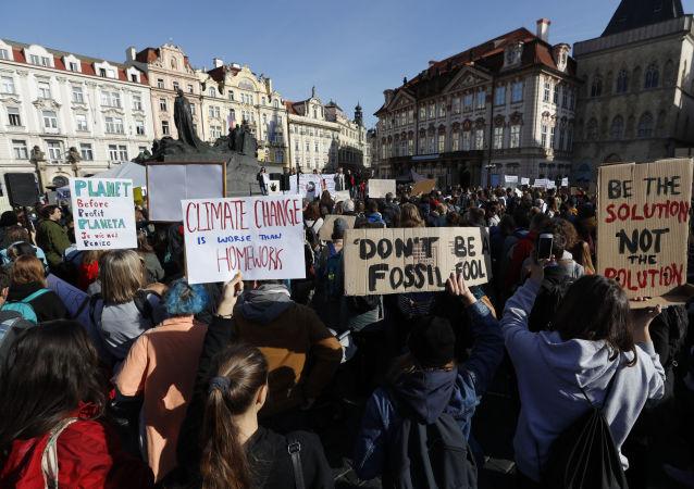 Stávka za klima na Staroměstském náměstí