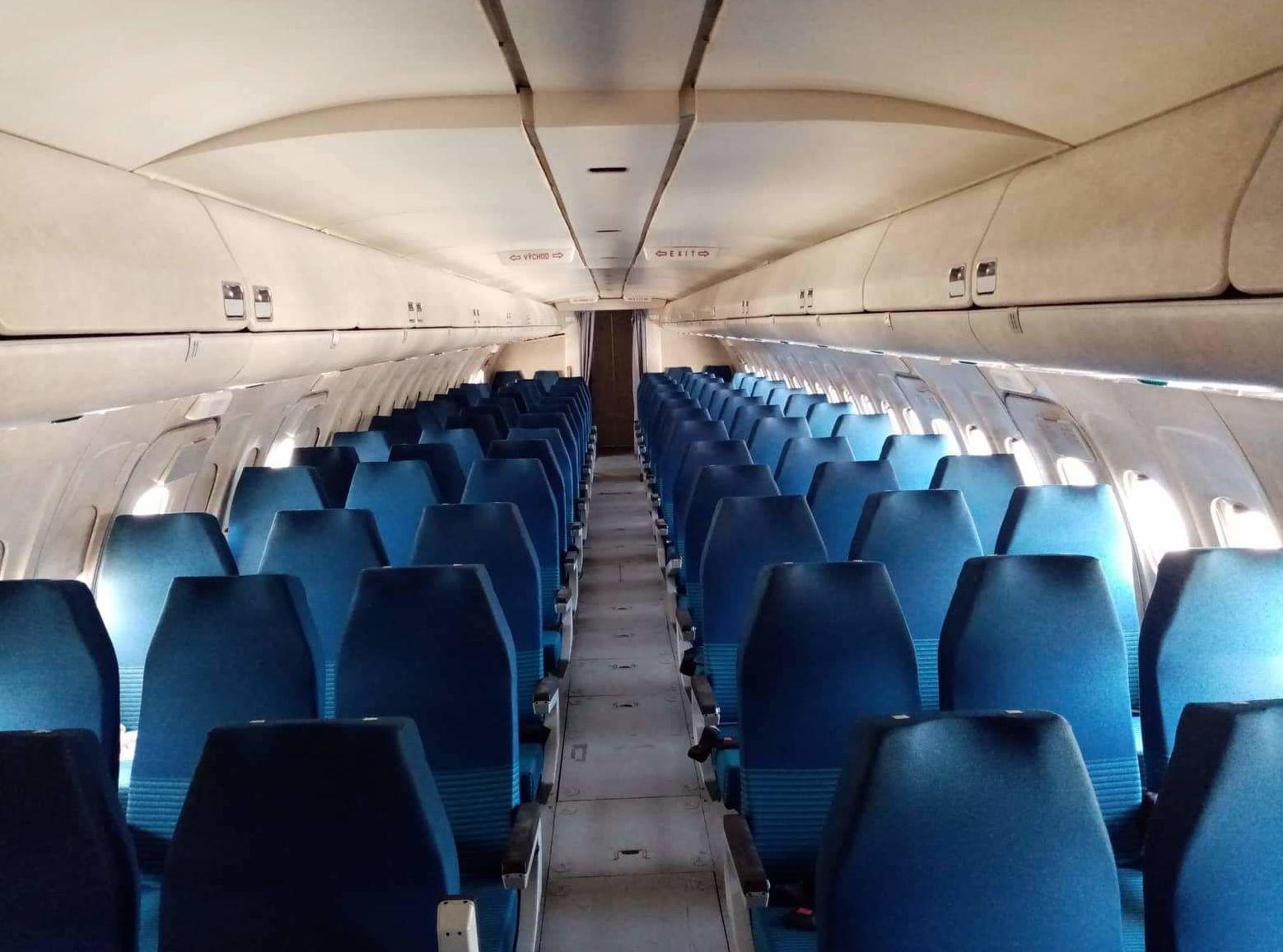 TU-154 kabina cestujících
