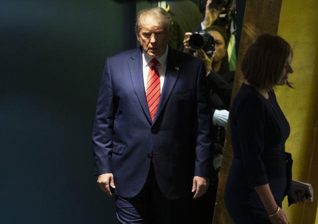 Americký prezident Donald Trump na Valném shromáždění OSN (24. 9. 2019)