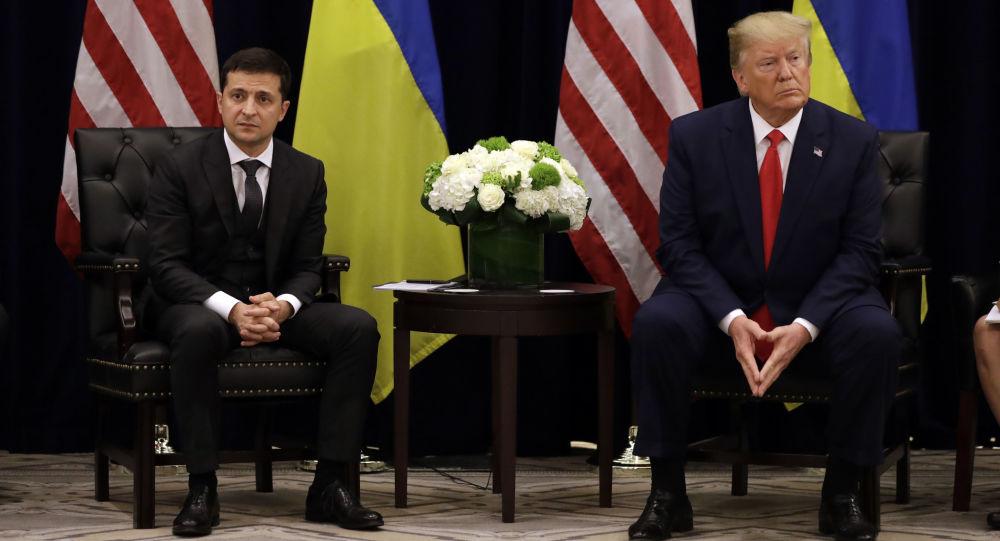 Ukrajinský prezident Volodymyr Zelenskyj během setkání s prezidentem USA Donaldem Trumpem v New Yorku